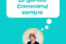 Organize - Command Centre / Home command centre, command center, organize paperwork, organize bills, organise papers, mobile command centre, command center for small homes, central command center.