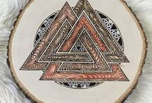Pyrography Art / This is a collection of viking inspired art pieces by Brian Imlay.