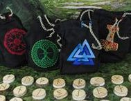 """Rune Sets and Boxes / """"Know how to cut them, Know how to read them, Know how to stain them, Know how to prove them, Know how to evoke them, Know how to score them, Know how to send them, Know how to send them."""" -The Hámavál..     Runes are a vital part of the heathen lifestyle. Choose from our available Elder Futhark rune sets and rune boxes, or order a custom rune set from us at FriggasFinery.com"""
