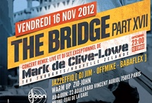 The Bridge Flyers - Designby Shmoo / The Bridge 2012 - Hip Hop Party   