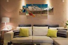 Imagina tu salón / Decora tu salón con tu propio estilo creando cuadros personalizados, fotomurales o vinilos decorativos personalizados.