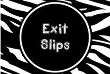 Wild About Exit Slips