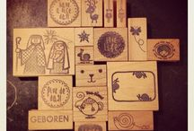 Stamps I used to sell... / These designs are made by lots of different Dutch Designers and sold as stamps in the webshop I started as Moosmade and is now called: Durftestempelen >>> www.durftestempelen.nl!