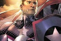 Captain America & Co. / Captain America, Bucky / The Winter Soldier , Falcon , Red Skull. Marvel Comics