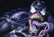 Symbiot / Venom, Carnage, Toxin, Anti-venom, Agent Venom, etc. Marvel Comics