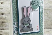 Cards Spring and Easter / Fun Easter and Spring hand stamped cards using paper crafting products by Stampin' Up! Products. DIY Card Ideas.