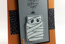Cards Fall and Halloween / Cards and Projects made for Fall and Halloween, hand stamped using paper crafting products by Stampin' Up! Products. DIY stamping and papercrafting ideas.