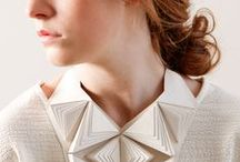 ♢ Origami Fashion / Beautiful origami-inspired-folds in clothing and accessories