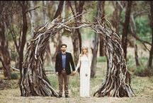 """wooded wedding / """"if I was a flower growing wild and free, all I'd want is you to me my sweet honey bee"""""""