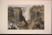 Victoria Falls, Zambesi River / http://search.lib.virginia.edu/catalog/uva-lib:1032661 The Victoria falls, Zambesi river : sketched on the spot (during the journey of J. Chapman & T. Baines) Baines, Thomas, 1820-1875. All images are sourced from the University of Virginia Library digital repository. This item is housed in the Albert and Shirley Small Special Collections Library, University of Virginia.