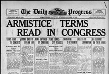 Charlottesville Daily Progress newspaper: Historical Headlines  / All digitized Daily Progress microfilm is housed in the Albert and Shirley Small Special Collections Library, University of Virginia. All images are sourced from the University of Virginia Library digital repository, and may be downloaded at various resolutions from our online catalog, Virgo. To request highest resolution versions of these images, please use UVa Library's Digital Curation Services Digitization Request Form at http://tracksys.lib.virginia.edu.
