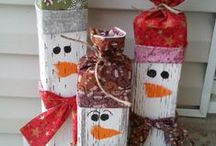 Small Holiday Wood Crafts / Holiday crafts for around your home.