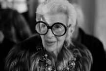 "Style Icons / ""When you don't have to dress like everyone else, you don't have to think like everyone else."" -Iris Apfel"