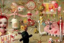 Art + Childhood / Toys, games, characters, stories, dreams, nightmares memories. Cute, scary, creepy, delicate, disturbing, pop surrealism.
