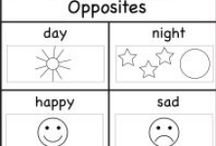 Opposites / http://www.worksheetfun.com/category/grades/preschool/opposites/ / by www.worksheetfun .com