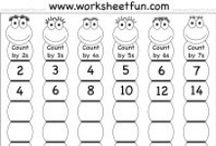 Skip Counting / http://www.worksheetfun.com/category/math-worksheetfunmenu/number/skip-counting/ / by www.worksheetfun .com