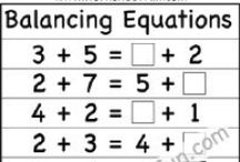 Equations / by www.worksheetfun .com