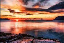 Sunrises+Sunsets God's Artwork / Beautiful colors / by Kelly Doyle