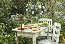 Shabby Chic Outdoor Rooms and Gardens / Shabby Chic Ideas for outside my home. / by Pamela Kaiser