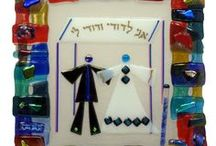 Tamara Baskin's Fused Glass Wedding Glass Keepsake Gifts Are Hot! / Tamara Baskin incorporates the use of the broken wedding glass into unique one of a kind #Jewish #weddinggifts   #Jewish #WeddingGift #CrushedGlass #GroomsGlass #JewishWedding / by Traditions Jewish Gifts