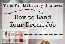 Get the Job / It can be hard for military spouses to find employment. Resumes, interview tips, employment ideas and more!  #interview #resume #work #career / by National Military Family Assoc.