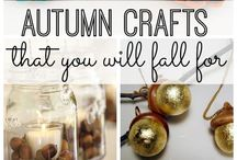 Fall Crafts / Home decor and fun crafts to celebrate the season of fall! Autumn is the season of warmly colored decorations, sweaters, and pumpkin everything!