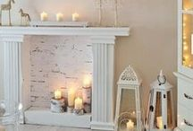 F I R E P L A C E / Mantel décor can really set the tone for an entire space.