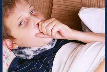 Sick kid hacks / Tips for sick kids. Kids health. Taking care of sick kids.
