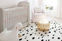 NURSERY / Fun, colorful and trendy Nursery décor for baby boys and girls. Lots of ideas including woodland, nautical glam and modern nursery themes.