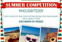 HolidayTeddy / To provide you with inspiration for The Works Summer Competition #HolidayTeddy - how to get your teddy ready for his/her holidays this year. Use the patterns or create your own designs. Don't forget to enter at http://blog.theworks.co.uk/2015/08/summer-competition-holidayteddy/ or on our website http://www.theworks.co.uk/page/summer-teddy-competition