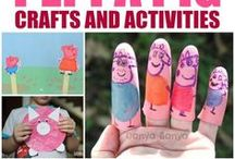 Peppa Pig / We love Peppa Pig as much as your family! The engaging tales, the odd laugh for us grown ups. It's good old fashioned family fun. So we've collected our fave Peppa Pig party ideas, craft activities and products for you here.