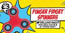 Fidget Spinners / These strangely addictive finger spinners are the latest way to stop fidgeting and de-stress. Take a look at our amazing spinners, tricks and tips...