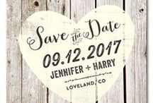 Save the Date / Share the excitement of your upcoming nuptials with our 100% recycled paper save the date cards. Offered in handmade plantable seeded paper, which will grow wildflowers/garden herbs , our exclusive, personalized save the date cards are the perfect way to keep your special day reserved.