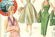 Retro Fashion of 1940's to 1990's / 1940's stylish dresses to 1990's. / by Mary Green