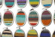 Handwoven Pendant Necklaces / Vibrant and unique wearable art jewelry! The perfect gift for everyone in love with weaving, texture, & color.