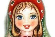 art - babushka dolls / by Robyn Sherer