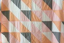 Half Square Triangle Quilts / Half Square Triangle Quilt Designs and Inspiration