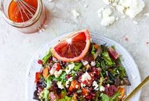 Recipes: Salads & Veggie Sides / A rainbow of vegetables. Salads & veggie sides. Get your green on (and red, orange, yellow, blue, purple too)!