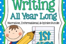 Writing Ideas / Writing Center Ideas, Writing Prompts, Poetry, Sentences Structure, Themes, and Anchor Charts