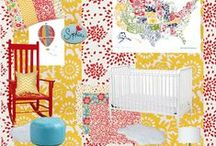 Nursery Inspiration for Baby H / Bright and cheery!