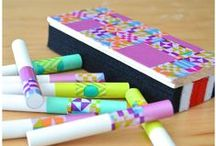 Teachers' Toolkit using Scotch® Expressions Tapes / We understand that being a #teacher is a tough job, so we've put together some #DIY ideas for the #classroom to help you with everything from lesson plans, organization, craft-time, and more! This decorative, patterned tape called Scotch® Expressions is available at Staples in a variety of fun colours and patterns, good for all age groups and is budget-friendly. Want to know the best part? No messy cleanup. ;)  / by Staples Canada