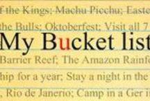 Bucketlist / by Anita Holthuis (AnitaHvL)