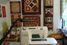 Studio ideas: Sewing spaces / by Charlee Kimball