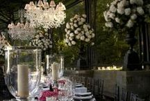 TABLES OF STYLE... / Nothing nicer than a stylish table setting to sit down to...Complete with a flower arrangement...PY...