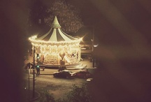 CARROUSEL... / As grown ups we find them beautiful, romantic and fun...they are all these things, BUT is it the child still in us that brings out this need , to mount these big beautiful horses,along with mans first form of transport ,being real horses...?????...PY...
