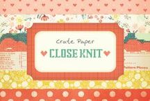 Close Knit Collection / Projects created from our Close Knit Collection, released Winter 2014. #scrapbooking #projects #papercollections #paper