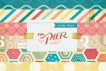 The Pier Collection / Projects created using our The Pier Collection, released Summer 2013. #summer #pier #ocean #scrapbooking #waves #cards #paper / by Crate Paper