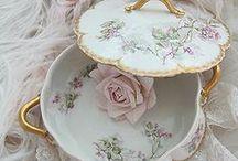 DAINTY DISHY DISHS... / Pretty flowery dishes...PY...