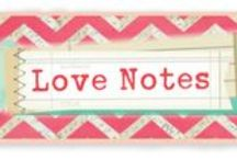 Love Notes Collection / Projects created using our Love Notes Collection, released Winter 2014. #scrapbooking #projects #love #notes #paper
