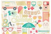 Poolside / Poolside is Crate Paper's Summer 2015 Paper Craft Collection. Vintage inspired, the collection is a compilation of trendy warm weather icons; water, sand, sun and fun!